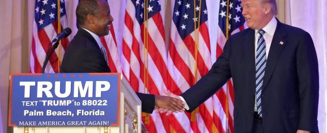 Anche Carson appoggia Trump: è l'unico che può cambiare l'America
