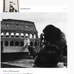La modella, del clan dei Kardashian, è in Italia per Fendi. (Foto Instagram)