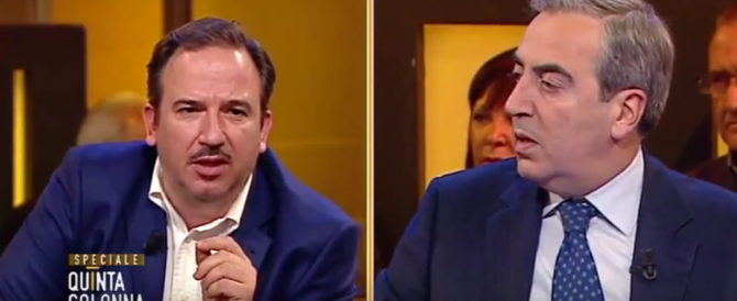 Gasparri sbotta contro Telese: «Sei uno schiavetto della Sharia» (VIDEO)