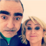 Selfie con Elio, anche lui ospite alla trasmissione.  (Foto Instagram)