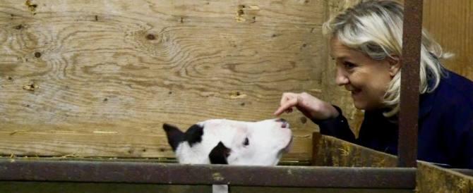 Marine Le Pen, svolta animalista: selfie con mucche e gattini (gallery)