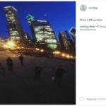 Una foto artistica scattata dal portavoce del premier. (Foto Instagram)