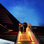 Il jet dei Trump. (Foto Instagram)