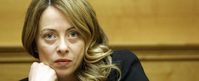 Giorgia Meloni accusa: «Renzi e Alfano tentano di falsare il voto»