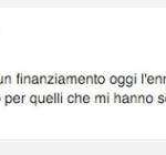 """""""Nessun finanziamento, addio"""". (Foto Facebook)"""