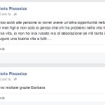 L'ex carabiniere si preoccupa per la sua famiglia. (Foto Facebook)