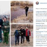 Nei giorni scorsi il leader della Lega era andato a pescare. Anche lì aveva scelto di documentare la visita. (Foto Instagram)