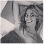 Ecco Elena poco prima del parto. (Foto Instagram)