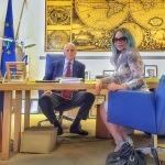 Ornella Muti è stata ricevuta dal presidente del Coni.  (Foto Instagram)
