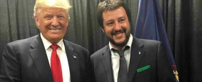 """Salvini con Trump: """"Potrei fare da collegamento tra lui e Putin"""""""