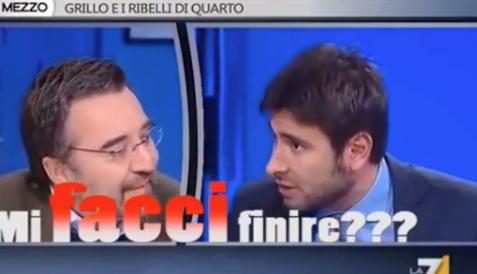 """""""Mi facci finire"""", il congiuntivo a 5 stelle di Di Battista (Video)"""