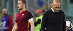Spalletti sigla la pace con Totti. Ma per il Capitano c'è ancora la panchina