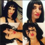 """Parrucca nera e rossetto rosso. Ecco la """"nuova"""" Arisa. (Foto Instagram)"""