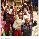 Bambini di Haiti. Martina si trova lì con la Fondazione Rava. (Foto Instagram)