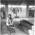 Martina Colombari ad Haiti, dove si trova da giorni per fare volontariato. (Foto Instagram)