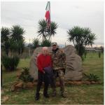 Con il generale Mori. (Foto Instagram)