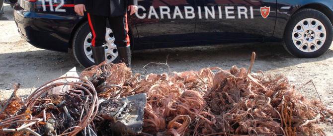 Sono tutti romeni gli autori dei furti di rame arrestati in Abruzzo