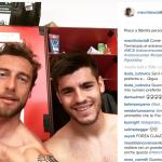 Il calciatore negli spogliatoi: per lui niente Europei.  (Foto Instagram)