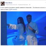 """La modella croata e il fidanzato """"postano"""" spesso foto in accappatoio o alle terme. Eccone un'altra recente, sempre da Facebook."""