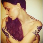 L'ultimo tatuaggio della modella. (Foto Instagram)