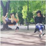 Al parco. (Foto Instagram)