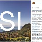 Anche un'altra modella come Alena Seredova ha pubblicato su Instagram il suo appello al voto. E' decisamente più sobrio del precedente. (Foto Instagram)