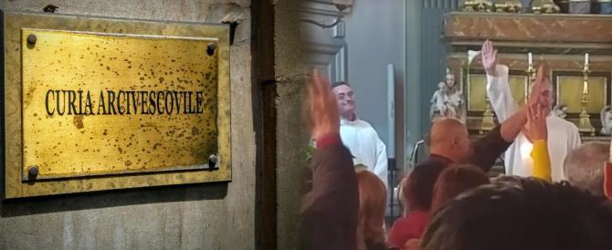 Messa per Mussolini a Catania. Saluti romani anche dall'altare (VIDEO)