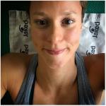 Selfie sotto sforzo, in palestra. (Foto Instagram)