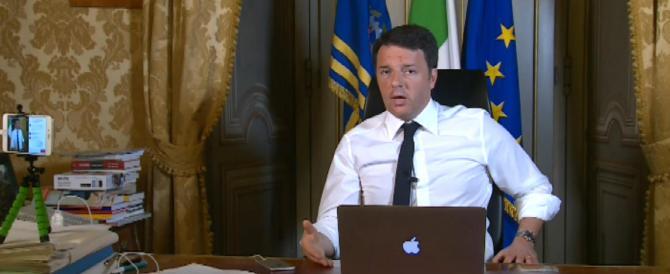 Renzi s'inventa lo spot per uscire dall'inferno: 80 euro alle pensioni minime