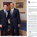 Sorrisi sì. Ma Renzi si è visto rubare la scena dal presidente canadese.  (Foto Instagram)