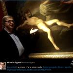 Il critico d'arte fa un uso professionale molto frequente dei social network.(Foto Facebook)