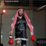 Moutaharrik Abderrahim è un tiratore di boxe thailandese. (Foto Polizia di Stato)