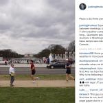 Trudeau va spesso a correre: eccolo a Washington.  (Foto Instagram)
