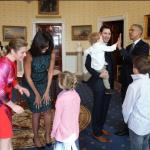 Una bellissima foto dei due presidenti, con i figli di quello canadese.  (Foto Instagram)