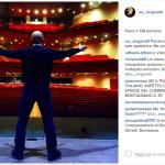 Teatro vuoto? O no? (Foto Instagram)