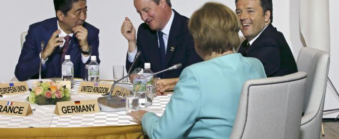 Al G7 c'hanno dato una sòla, ma Renzi ce la venderà come grande vittoria