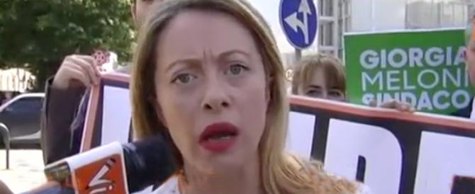 Blitz alla Nuvola di Fuksas. Giorgia Meloni: «Buttati i soldi dei cittadini»