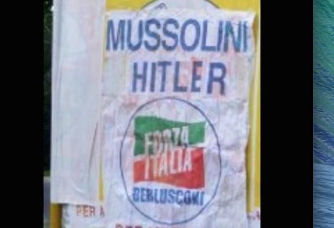 Il passato che non passa: falsi manifesti con Hitler contro Alessandra Mussolini