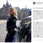 """Qui la """"rivelazione"""" alle migliaia di follower: """"Essì, faccio la poliziotta"""". (Foto Instagram)"""