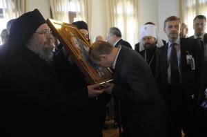 Russian President Vladimir Putin visits Mount Athos