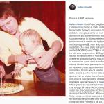 Gli auguri social di Francesco Facchinetti al padre. (Foto Instagram)