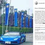 Icardi ama molto le supercar. Questo ha i colori dell'Inter...  (Foto Instagram)