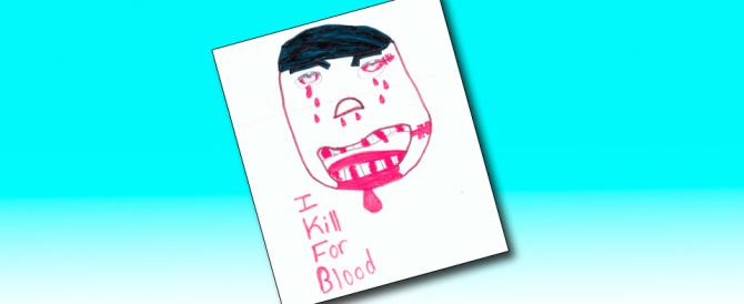 Bologna, bimbo figlio di immigrati disegna una maschera con la scritta Isis