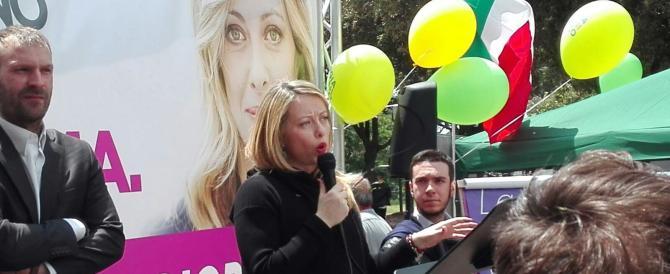 Meloni: «Il 2 giugno chiuderò la campagna elettorale a Tor Bella Monaca»