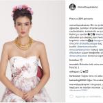 La modella turca nei panni di Frida Khalo. (Foto Instagram)