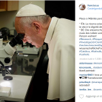 """Il Pontefice ha """"aperto"""" nuovissimi canali di comunicazione coi fedeli, utilizza spesso le immagini per trasmettere emozioni. (Foto Instagram)"""