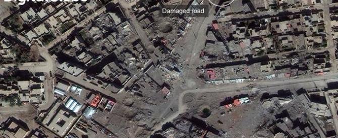 Iraq, rasa al suolo la città di Ramadi. Dal satellite le immagini delle macerie