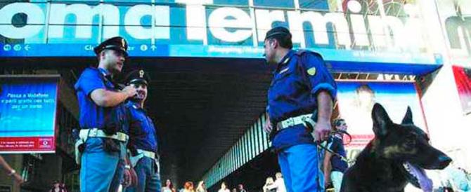 Rapinatore magrebino incastrato dalle telecamere di Stazione Termini: preso