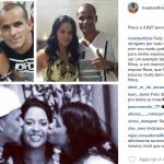 Rivaldo con la mamma e la moglie. (Foto Instagram)