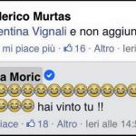 """Questo tizio, si """"permette"""" di citare la cestista e modella italiana. Moric ride..(Foto Facebook)"""